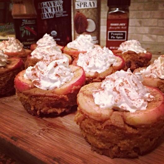 Mini pumpkin, pecan, apple pies.